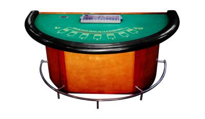 79 Blackjack Table With Foot Rail